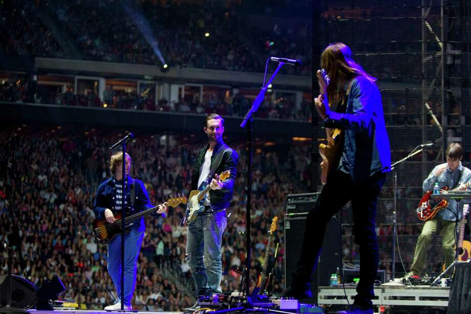 Maroon 5 performs at Reliant Stadium during the Houston Livestock Show and Rodeo, Thursday, March 13, 2014, in Houston. Photo: Marie D. De Jesus, Houston Chronicle / © 2014 Houston Chronicle
