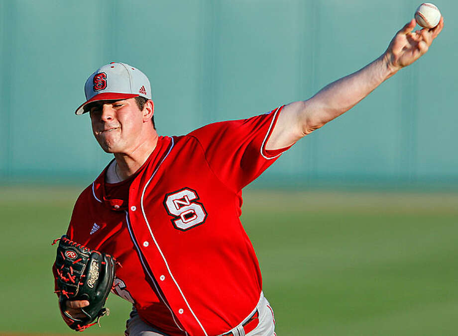 By all accounts, North Carolina State junior lefthander Carlos Rodon has the talent - and mean streak - to succeed at the major league level should the Astros select him with the first overall pick in June's draft. Photo: Karl B. DeBlaker / ONLINE_YES