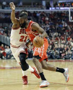 March 13: Bulls 111, Rockets 87  James Harden was held to 8 points on 2-of-7 shooting in the ugly loss to the Bulls, the Rockets 2nd loss in a row.  Record: 44-21 Photo: Nam Y. Huh, Associated Press