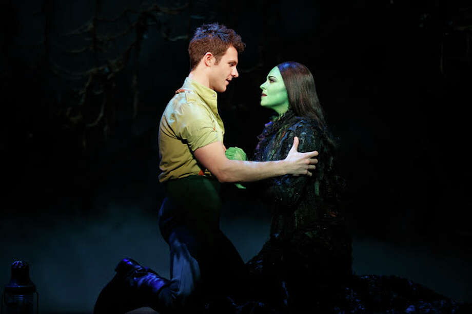 "David Nathan Perlow and Jennifer DiNoia play Fiyero and Elphaba in the national tour of ""Wicked."" Photo courtesy of Joan Marcus. Photo: ©2013 Joan Marcus, ©2013, Joan Marcus / ©2013, Joan Marcus"