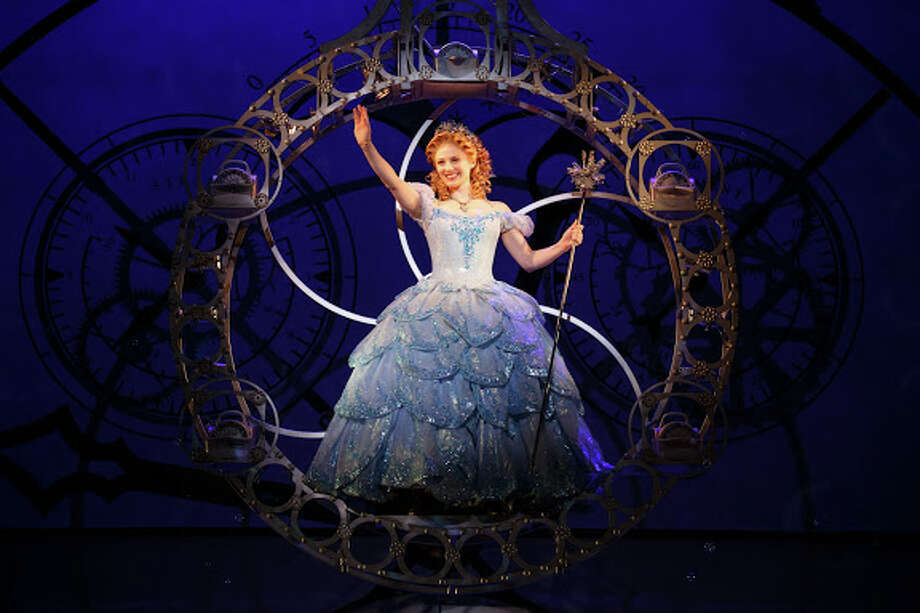 """Hayley Podschun makes her entrance via bubble in her role as Glinda in the national tour of """"Wicked."""" Photo courtesy of Joan Marcus. Photo: ©2013 Joan Marcus, ©2013, Joan Marcus / ©2013, Joan Marcus"""