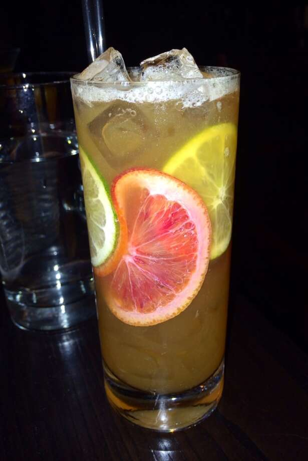 The Calabria at Hog & Rocks with bourbon, Meyer lemon bergamot, averna, honey, ginger and bitters ($12)