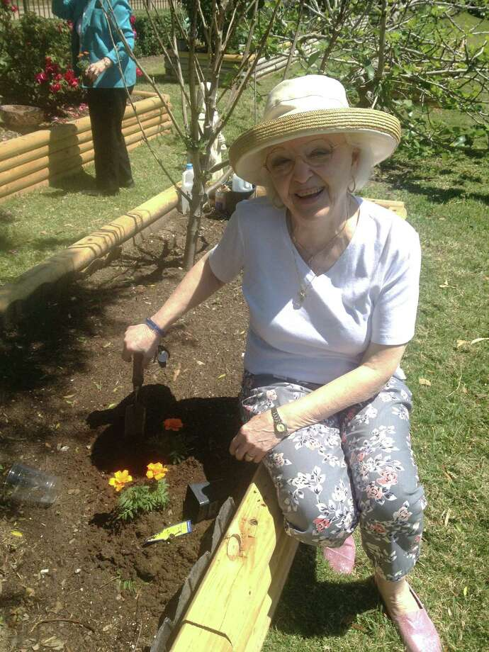 Parkway Place's residents will be hosting upcoming events in its garden, as growing flowers and vegetables are popular among its residents, including Frieda Grisham and Eddie Buddemeyer.