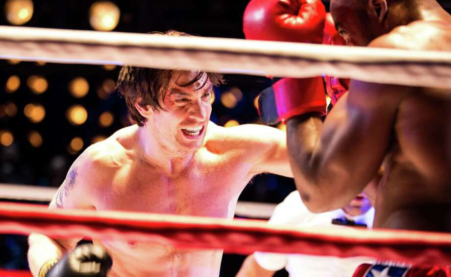 "This image released by Polk and Co. shows Andy Karl during a performance of ""Rocky,"" a play based on the iconic film, at the Winter Garden Theatre in New York. (AP Photo/Polk and Co., Matthew Murphy) ORG XMIT: NYET451 Photo: Matthew Murphy, AP / Polk and Co."