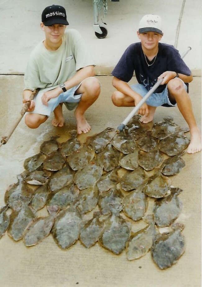 Flounder catch in the 1990s - Brett Nicholas