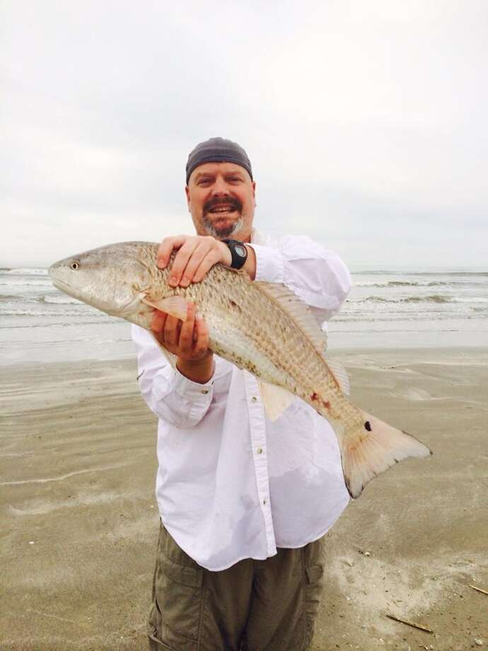 Caught on the beach in Galveston - Michael McGaha.