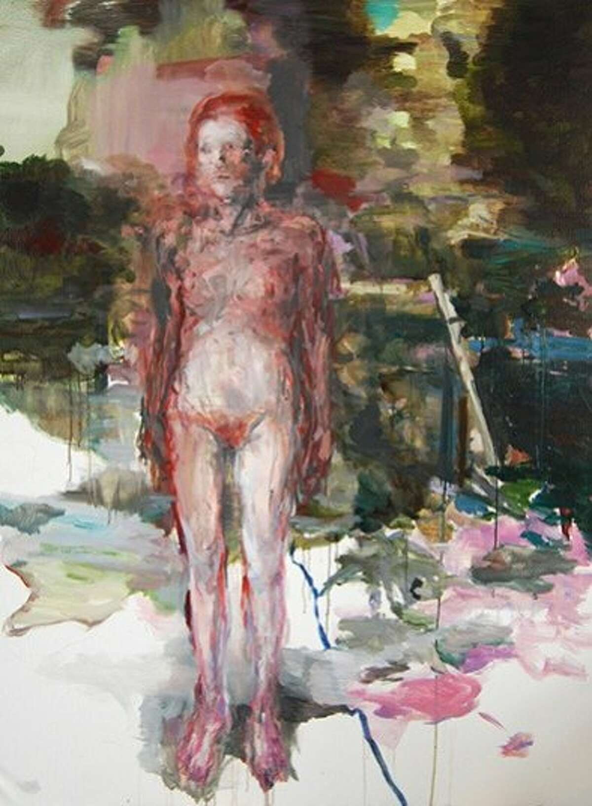 """""""Nymphe"""" (2013) oil on canvas by Edwige Fouvry. Photo courtesy of the Dolby Chadwick Gallery."""