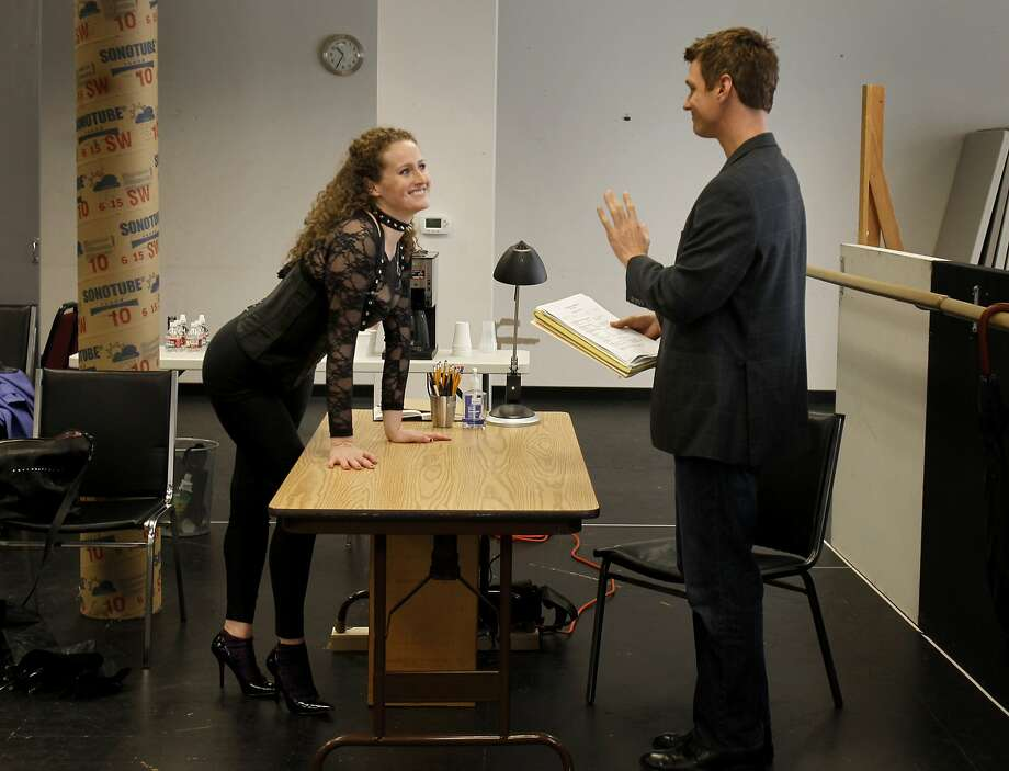"Director Thomas (Henry Clarke) talks with actress Vanda (Brenda Meaney) in ""Venus in Fur."" Photo: Brant Ward, The Chronicle"