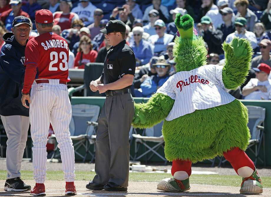 No. 6. The Philly Phanatic. Sorry, Lou Seal and Sourdough Sam. You're not in his league. Photo: Kathy Willens, Associated Press