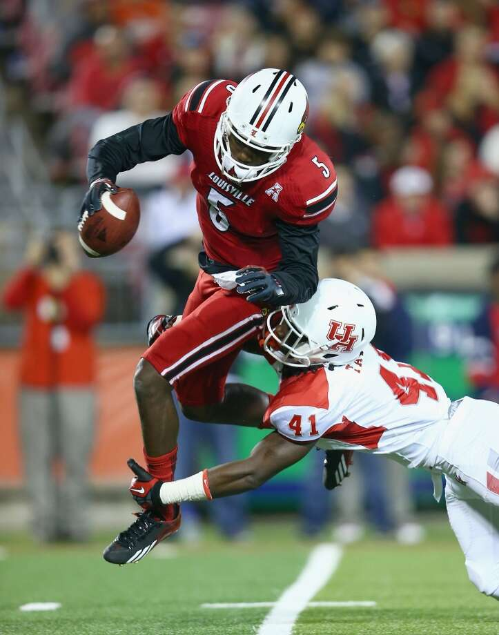"Teddy Bridgewater  Nov. 16: Louisville 20, UH 13  Bridgewater's stats: 19-29, 204 yards, 0 touchdowns, 0 interceptions, 124. 3 QB rating  Gibbs' take: ""If I'm an offensive coach, if I'm a quarterback guy, this is exactly the kind of guy I want. He'll do exactly what you tell him to do."" Photo: Andy Lyons, Getty Images"