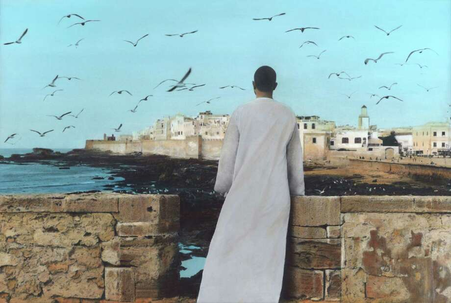 "On view in ""View from Inside: Contemporary Arab Video, Photography, and Mixed Media Art"" through April 27: At Silver Street Studios, works by Youssef Nabil, a native of Egypt, include ""Self-portrait, Essaouira"" (2011, Courtesy of the Artist and Nathalie Obadia Gallery, Paris / Brussels). Photo: Youssef Nabil / ONLINE_YES"