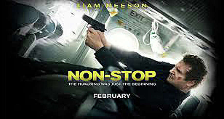 "Liam Neeson stars in the new airliner-in-peril thriller, ""Non-Stop."" Photo: Contributed Photo / Westport News"