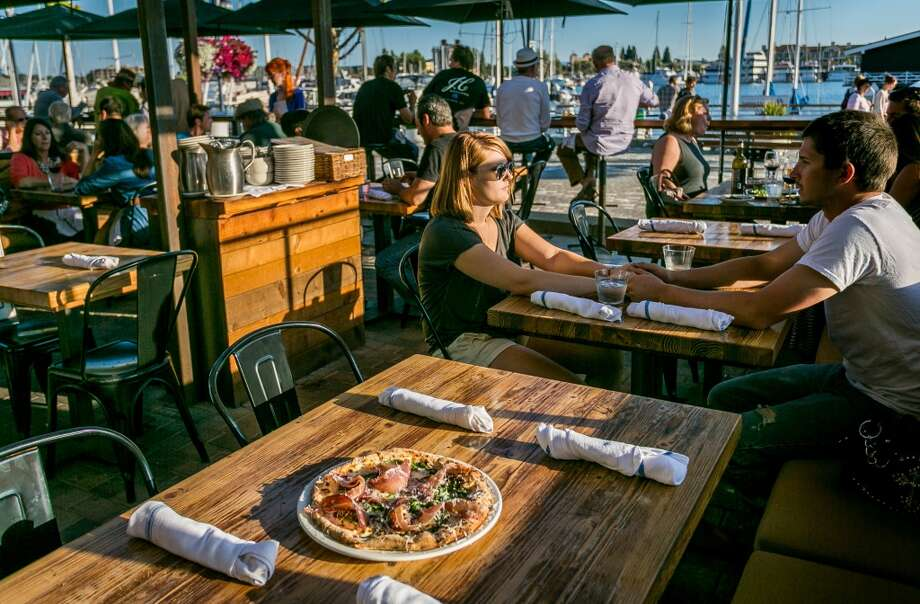 The Forge in Jack London Square has nice pizza and nice views. Photo: John Storey, Special To The Chronicle