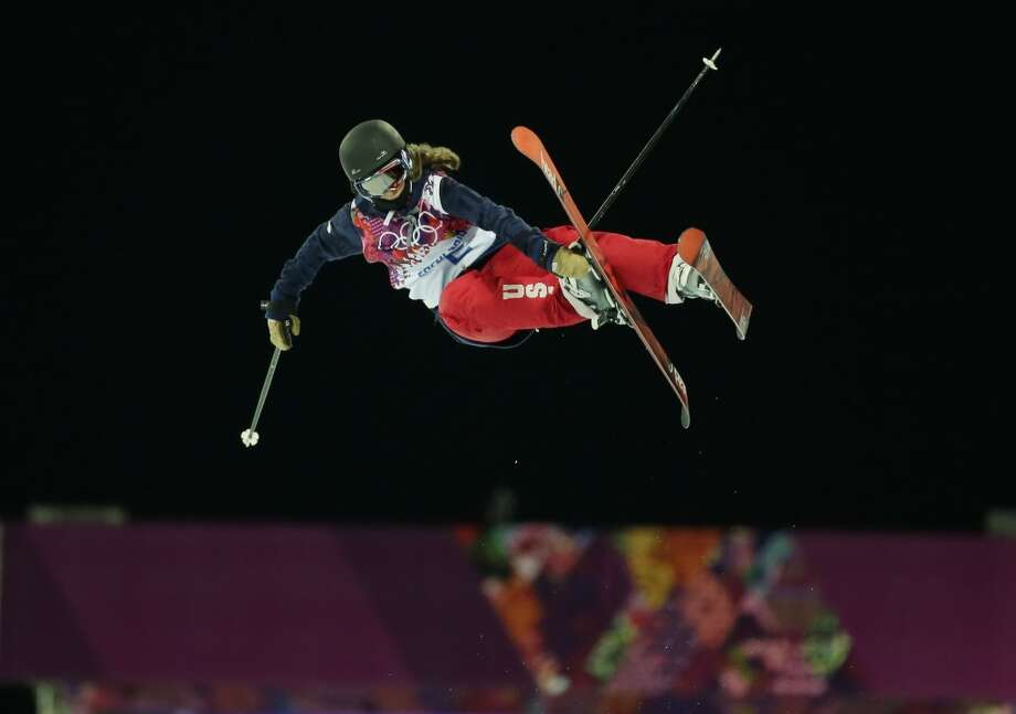 Gold medalist Maddie Bowman of the United States gets air during the women's ski halfpipe final at the Rosa Khutor Extreme Park, at the 2014 Winter Olympics, Thursday, Feb. 20, 2014, in Krasnaya Polyana, Russia. Photo: Andy Wong, Associated Press