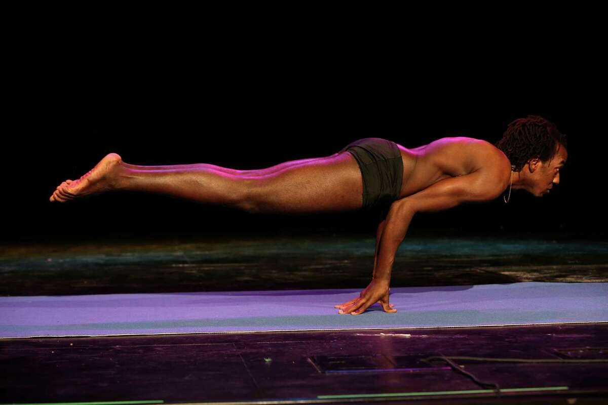 Preliminaries of the 2014 USA Yoga National Championship were held n Friday March 14, 2014 at Aztec TheatreCompetitors do five compulsory poses and two of their own choosing