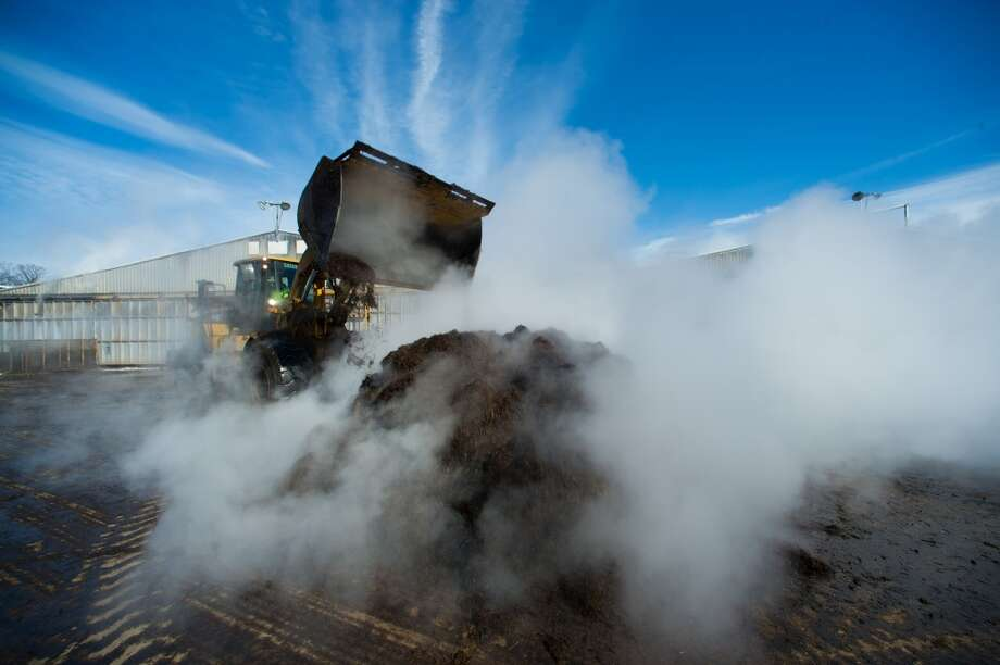 Pennsylvania: Steam rises from the compost mixture prepared by workers at Kaolin Mushroom Farm Inc. in Kennett Square, Pennsylvania, U.S., on Tuesday, March 4, 2014. According to The Mushroom Festival Inc., over 65 percent of the mushrooms consumed in the United States are grown in Southern Chester County where Kennett Square is located. Photographer: Craig Warga/Bloomberg Photo: Craig Warga, Bloomberg