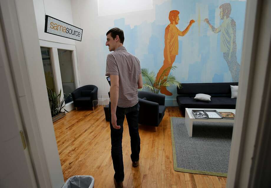 Web designer Zac Halbert says he finds his work for nonprofit startup Samahope more fulfilling than his former job. Photo: Brant Ward, The Chronicle
