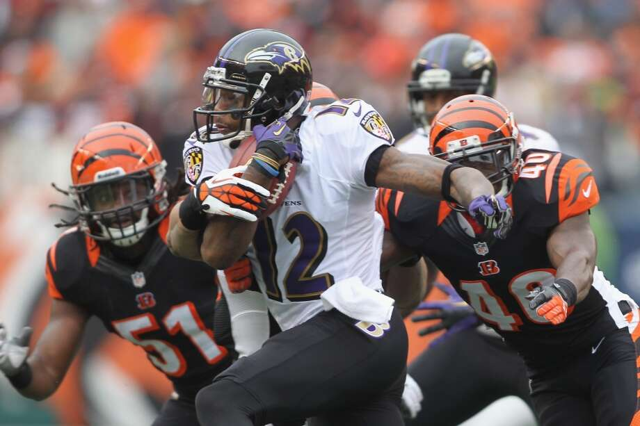 Jacoby Jones  Position: WR  Status: Re-signed with Baltimore Ravens Photo: John Grieshop, Getty Images