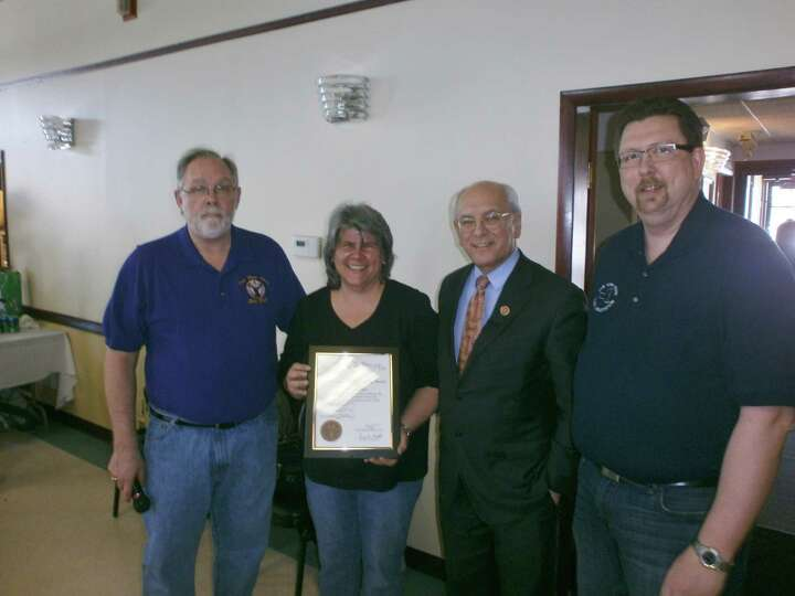 Susan Drescher was recognized March 9 as Elk of the Year by the Clifton Park Elks Lodge. The award i