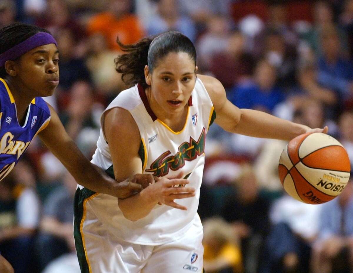 Sue Bird Seattle Storm, 2002-present The top pick of the 2002 WNBA draft after a sterling college career at Connecticut, Bird became an immediate superstar in Seattle, garnering nine All-Star selections, the most recent of which came in 2015. The No. 11 scorer in WNBA history ranks eighth all time in steals and second in assists.
