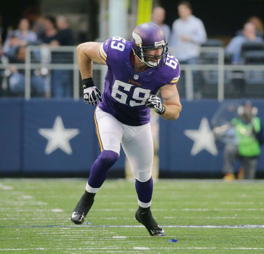 Jared Allen  Position: DE  Status: Signed with Chicago Bears Photo: Tom Dahlin, Getty Images