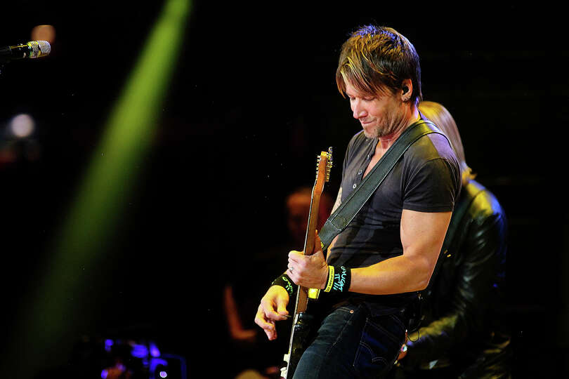 Keith Urban performs at the Houston Livestock show and Rodeo.