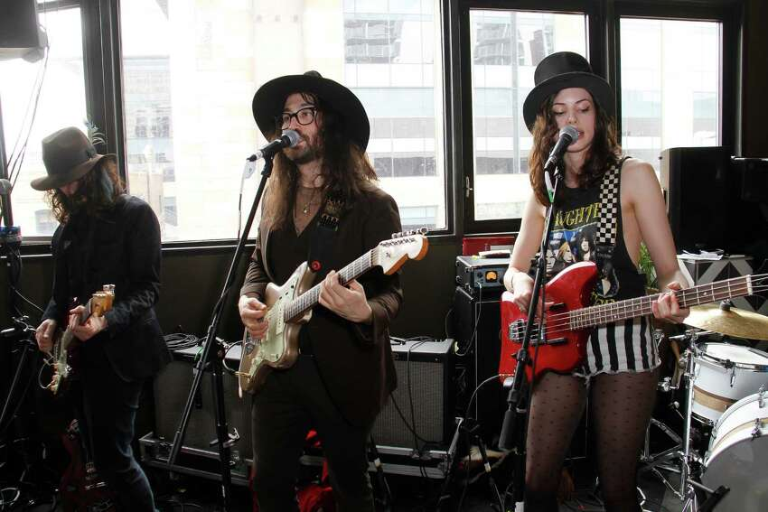 AUSTIN, TX - MARCH 14: Sean Lennon and Charlotte Kemp Muhl perform with The Ghost of a Saber Tooth Tiger at Mal Verde for eBay Giving Works and Nylon Launch MusiCares Auction during SXSW 2014 on March 14, 2014 in Austin, Texas.