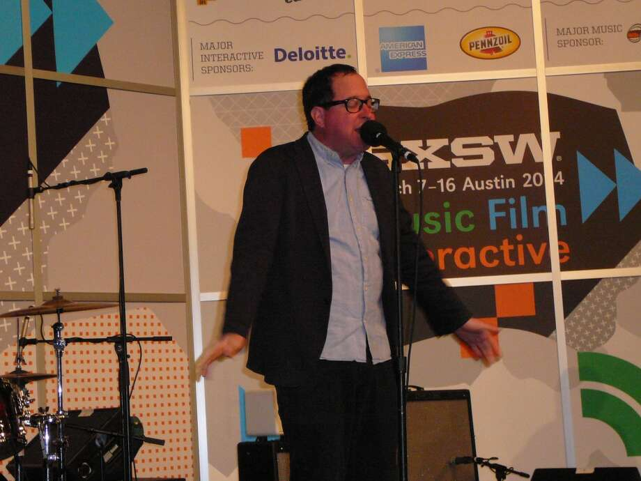 The Hold Steady's Craig Finn holds court at the Austin Convention Center on Friday.