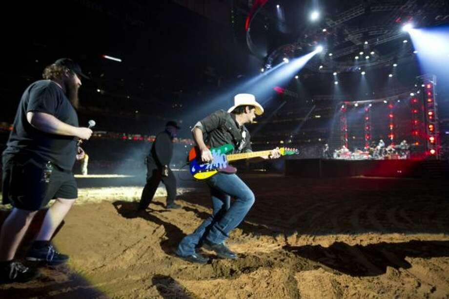 Brad Paisley, March 4 Brad Paisley was a  master of  switching moods on a dime  during his performance at the Houston Livestock Show and Rodeo. Photo: Marie D. De Jesús/Houston Chronicle
