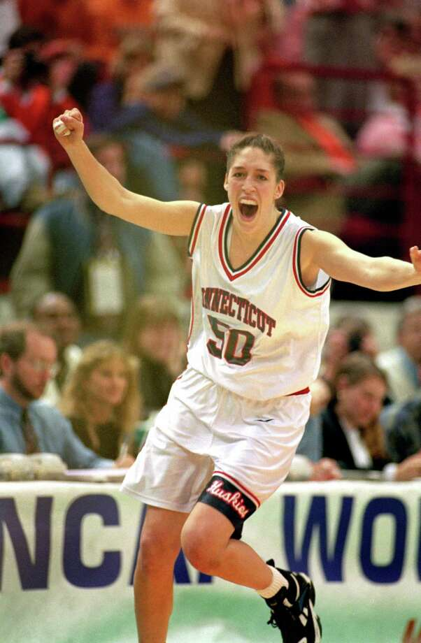 The UConn dynasty officially began on April 2, 1995. Rebecca Lobo, arguably the most important women's player in school history, led the Huskies to a 35-0 record and the first national championship in the Geno Auriemma era. Lobo and the Huskies defeated Tennessee, 70-64, for their shining moment.  Photo: Matthew Stockman, ST / 1995 Getty Images