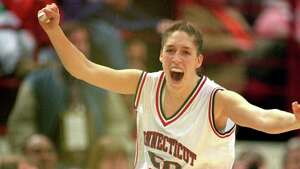 The UConn dynasty officially began on April 2, 1995. Rebecca Lobo, arguably the most important women's player in school history, led the Huskies to a 35-0 record and the first national championship in the Geno Auriemma era. Lobo and the Huskies defeated Tennessee, 70-64, for their shining moment. (Photo by Matthew Stockman/Getty Images)