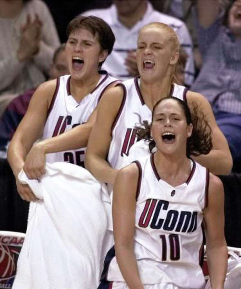 UConn returned to college basketball's mountain top during the 1999-2000  season. Led by Shea Ralph and Sue Bird, the Huskies compiled a 35-1  record and once again beat Tennessee in the national championship game.