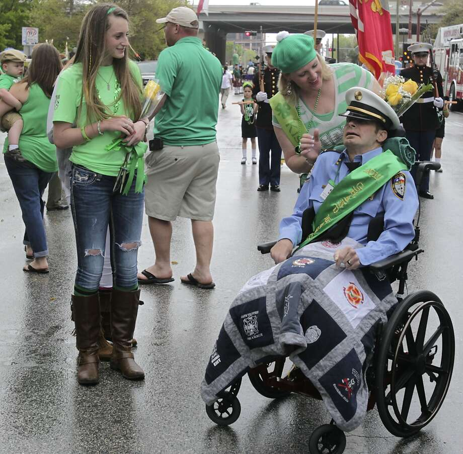 The 55th annual St. Patrick's parade will salute Houston's first responders this year. Houston Fire Captain William Dowling will be this year's grand marshal Saturday, March 15, 2014, in Houston. ( James Nielsen / Houston Chronicle ) Photo: Houston Chronicle