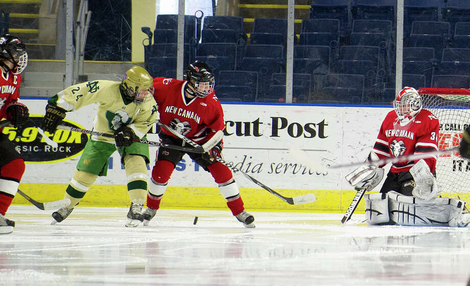 Saturday's Division I semifinal game between New Canaan and Notre Dame-West Haven at Webster Bank Arena in Bridgeport, Conn., on March 15, 2014. Photo: Lindsay Perry / Stamford Advocate