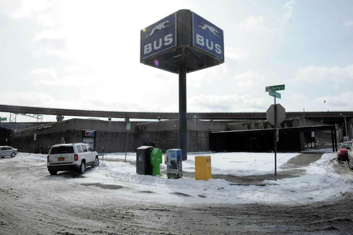 The Albany Greyhound bus station Thursday, March 13, 2014, on Hamilton Street in Albany, N.Y. (Michael P. Farrell/Times Union)