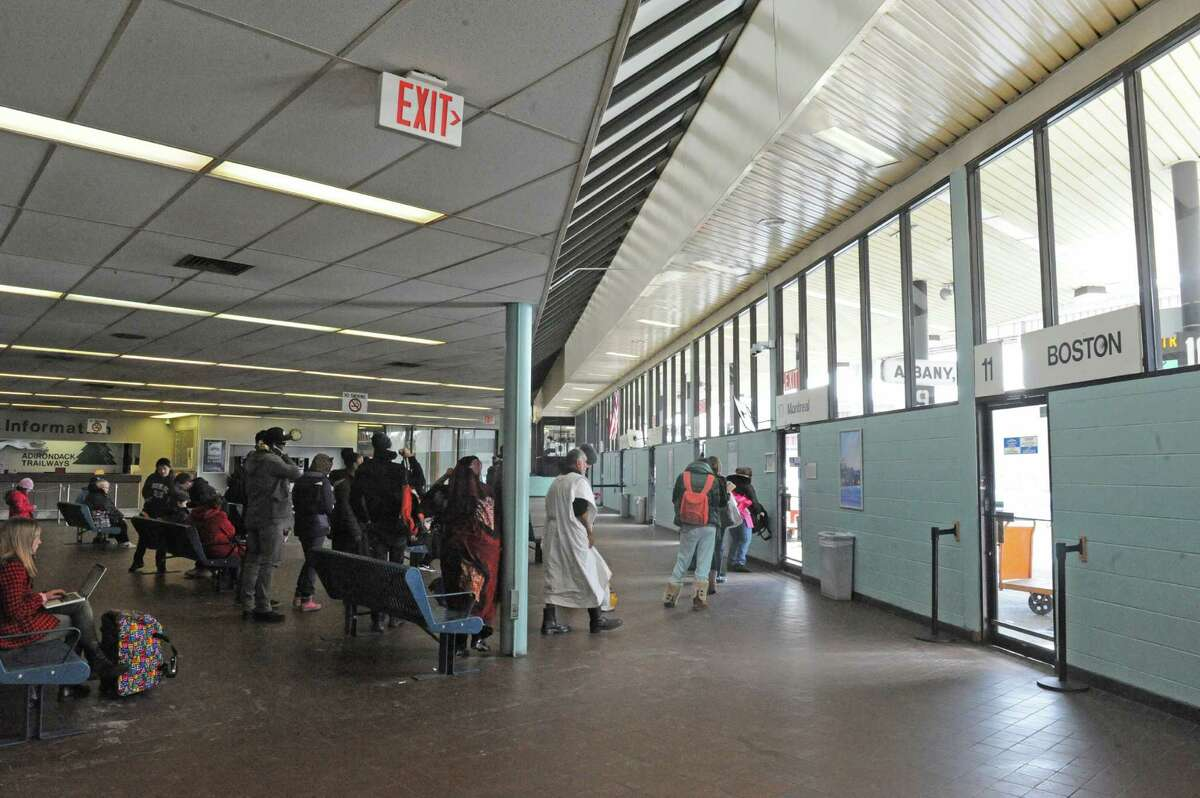 Inside the Albany Greyhound bus station Thursday, March 13, 2014, on Hamilton Street in Albany, N.Y. (Michael P. Farrell/Times Union)