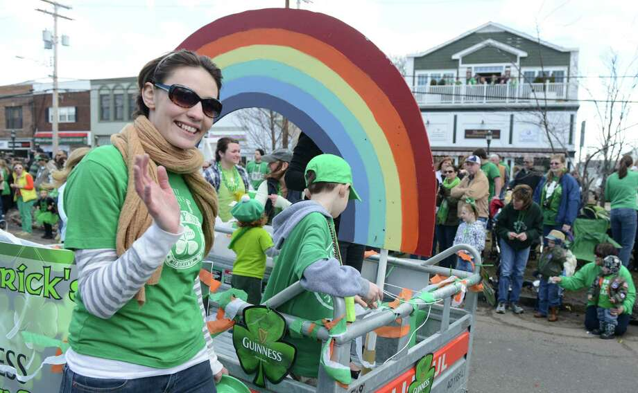 The annual St. Patrick's Day Parade moves through downtown Milford, Conn. Saturday, Mar. 15, 2014, in front of thousands of spectators. Photo: Autumn Driscoll / Connecticut Post