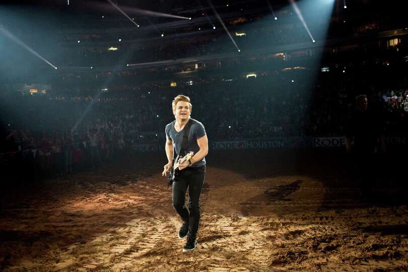 Hunter Hayes performs at Reliant Stadium during the Houston Livestock Show and Rodeo, Saturday, Marc