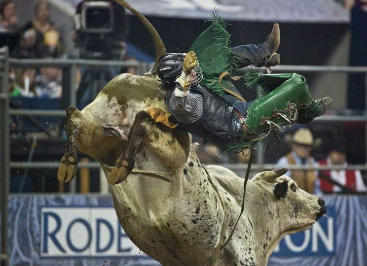 Jeff Askey competes in the BP Super Series IV Championship Round Bull Riding competition during Hous