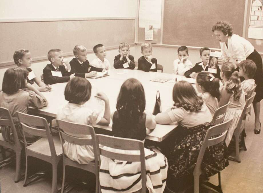 Mrs. Rott Tyler and her Sunday school class circa 1950-1960, March 13, 2014 in Houston on display at Treebeards. Photo: Photos Courtesey Of Christ Church Cathedral / Eric Kayne