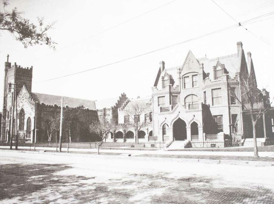 Second Christ Church Rectory, 1119 Texas Avenue at San Jacinto Street, built 1902 on the site of the first rectory, demolished 1949 to make way for the Latham Building, March 13, 2014 in Houston on display at Treebeards. Photo: Photos Courtesey Of Christ Church Cathedral / Eric Kayne