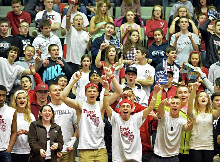 Scotia fans cheer their team during their semifinal game against John Glenn March 15, 2014, in Glens