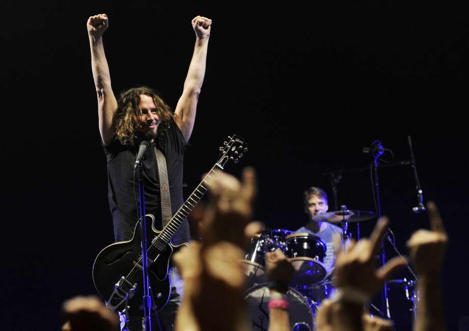 FILE - This Feb. 15, 2013 file photo shows Chris Cornell of Soundgarden during the band's concert at the Wiltern in Los Angeles. Soundgarden will perform at the iTunes Music Festival at SXSW on March 13, in celebration of the 20th Anniversary of Superunknown LP.(Photo by Chris Pizzello/Invision/AP, File) Photo: Associated Press