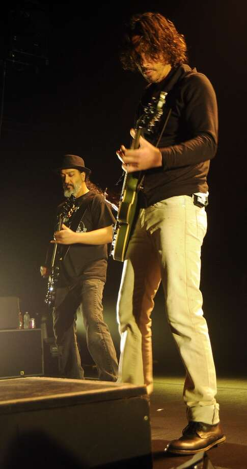 Soundgarden's Kim Thayil and Chris Cornell perform at the Bayou Music Center Friday May 24, 2013.(Dave Rossman photo) Photo: For The Houston Chronicle