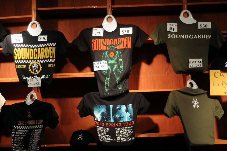 Soundgarden tee shirts for sale at the Bayou Music Center Friday May 24, 2013.(Dave Rossman photo) Photo: For The Houston Chronicle