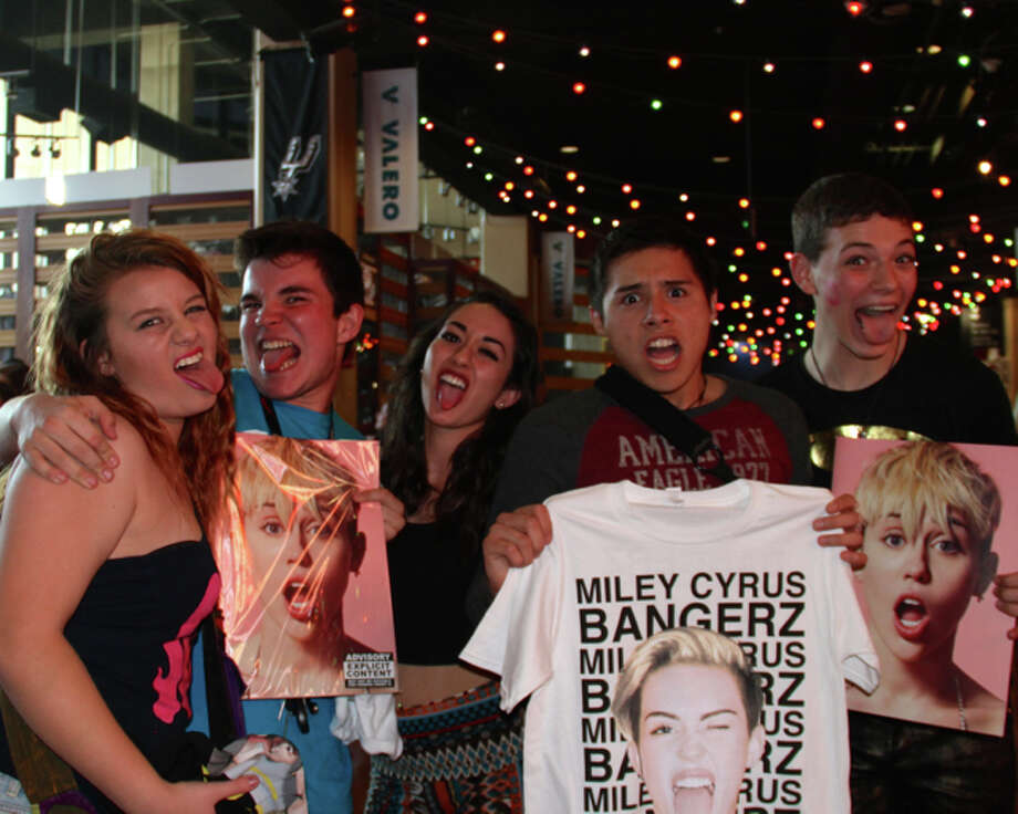 "Miley Cyrus exploded into S.A. with her ""Bangerz"" show and these are the fans she rocked. Photo: By DeAnne Cuellar, For MySA.com"