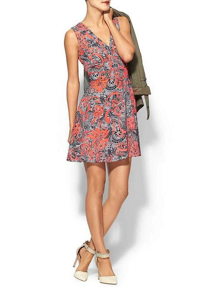 Ark & Co. Neon Printed Fit & Flare Dress, $79,