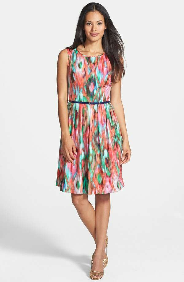 Ellen Tracy Ikat Print Fit & Flare Dress, $188, Nordstrom Photo: Nordstrom