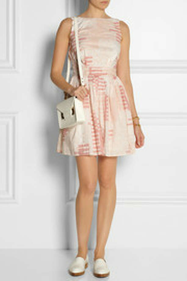 Thakoon Addition Backless Embroidered Printed Cotton Dress, $560, Net-a-Porter Photo: Net-a-Porter