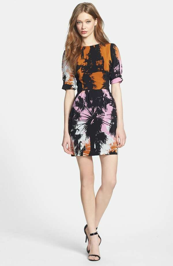 Line & Dot Silk Print Sheath Dress, $140, Nordstrom Photo: Nordstrom